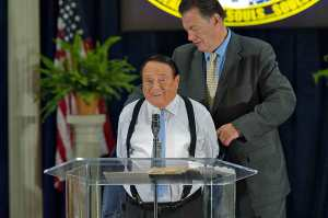 For 26 years Greg Mauro (r) has served as vice-president of ministries for Dr. Morris Cerullo.